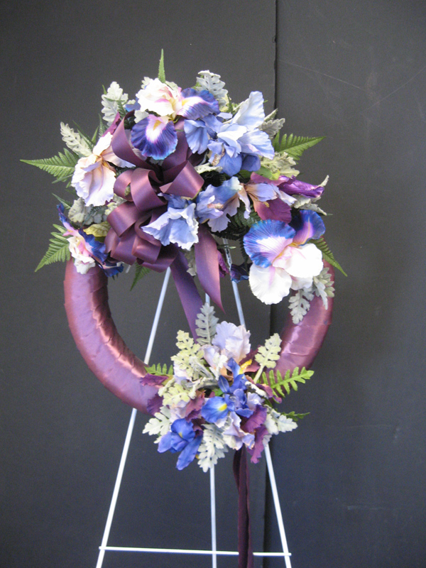 Purple easel wreath