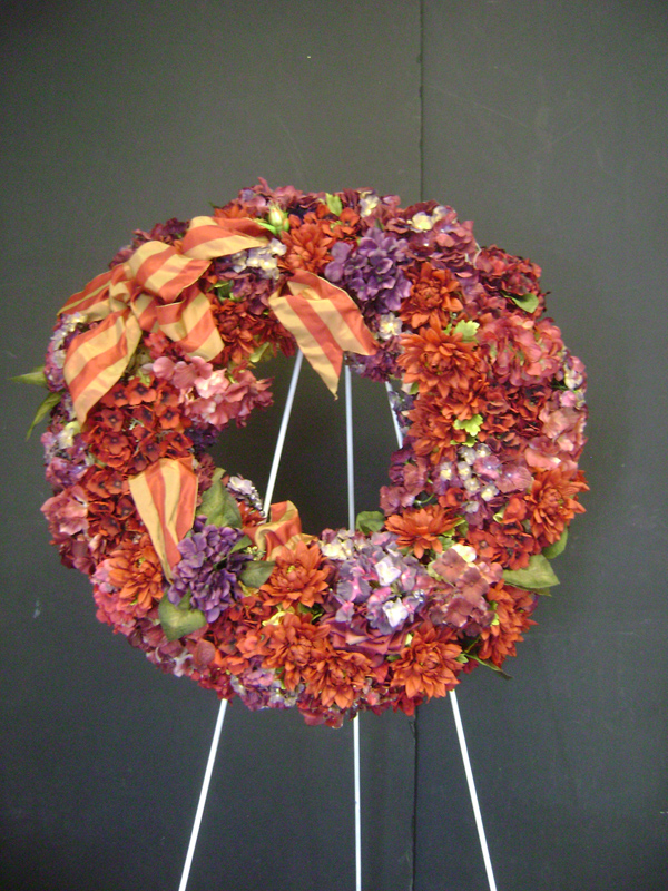 Rust and ribbon wreath