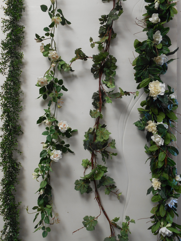 Assorted faux garland