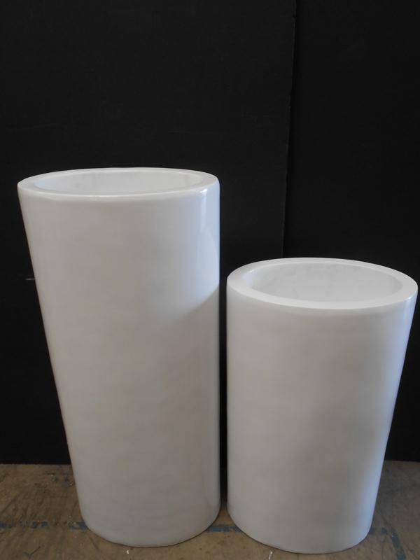 White fiberglass pedestal