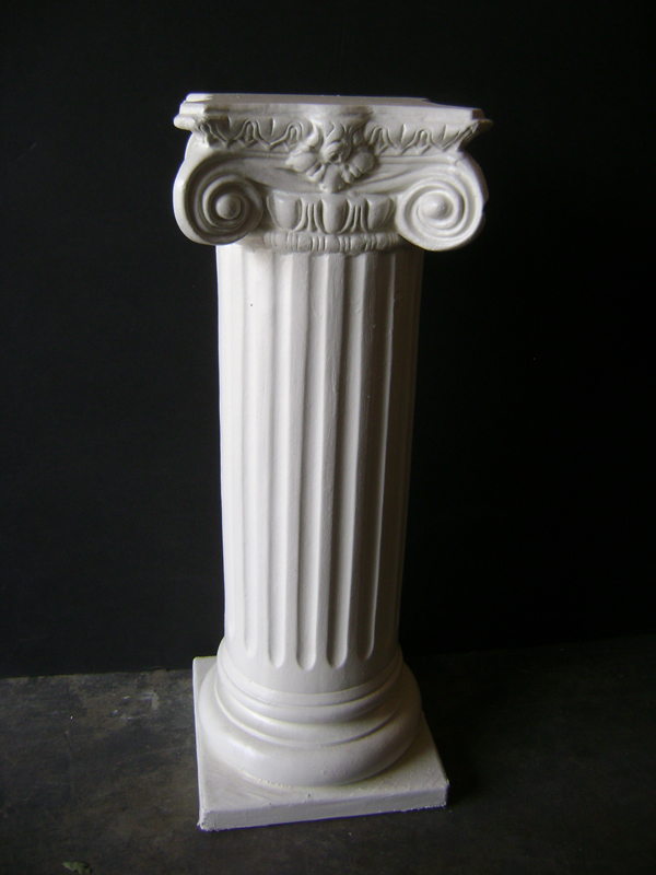 White plaster Roman pedestal
