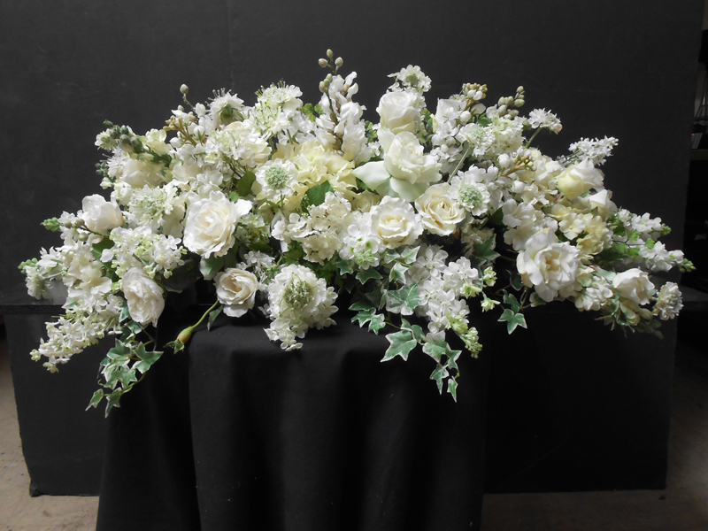 White mantel floral