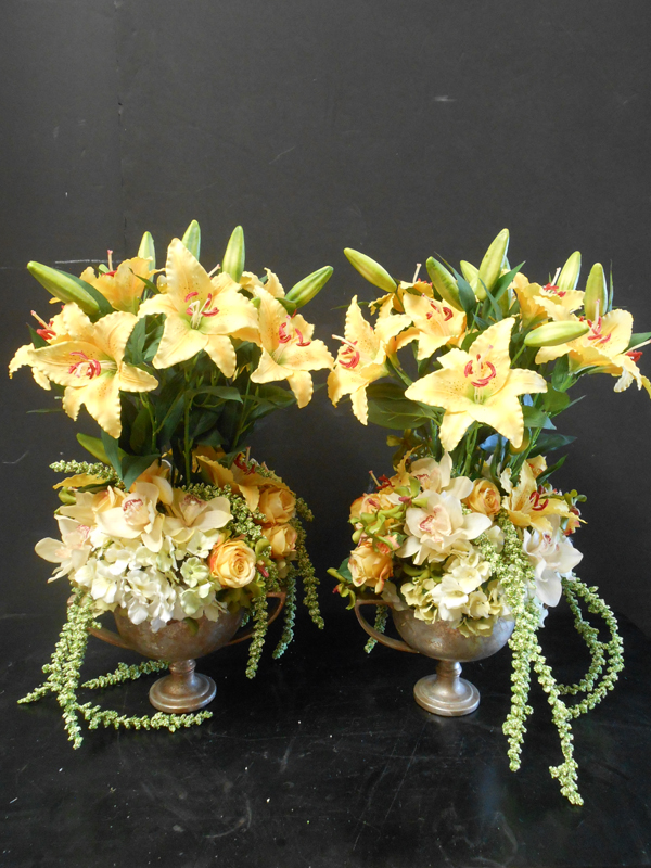 yellow lilies and mixed floral