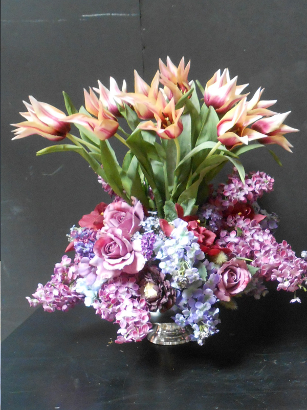 Lilac and tulips floral