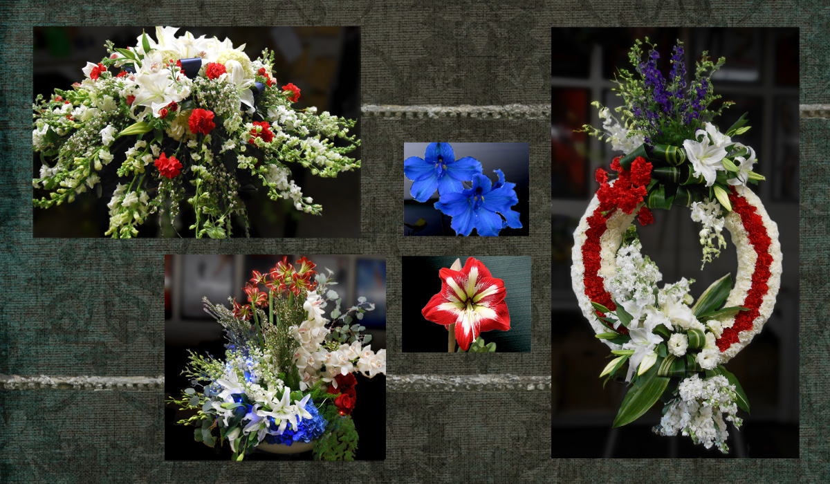 Patriotic Red White and Blue Funeral