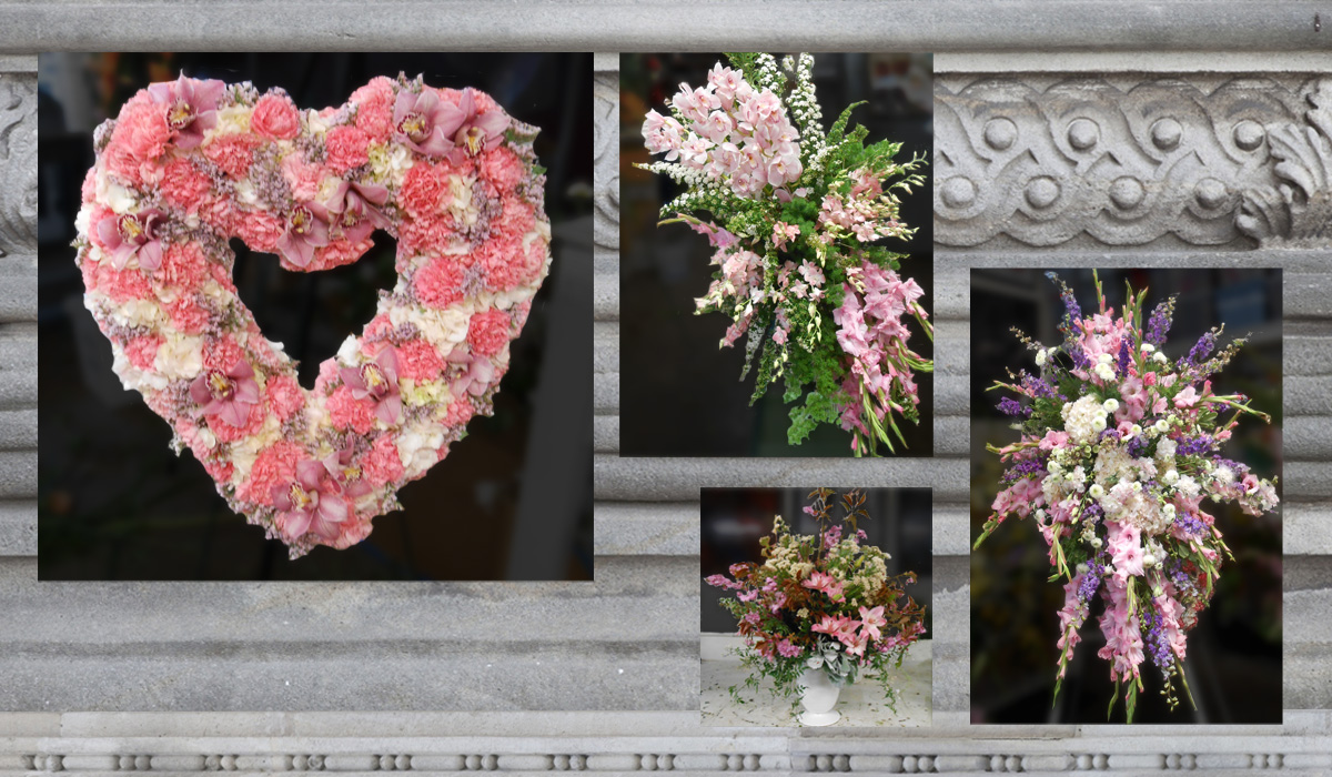 Pink and Lavender Funeral