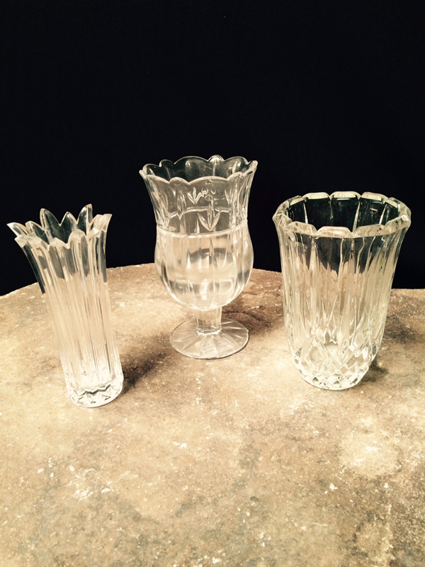 Small Cut Crystal Vases