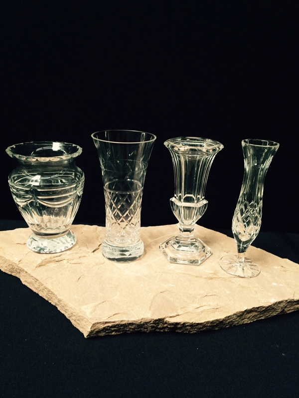 Small Crystal Vases