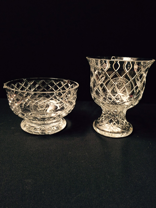 Crystal Vases With Presidential Seal
