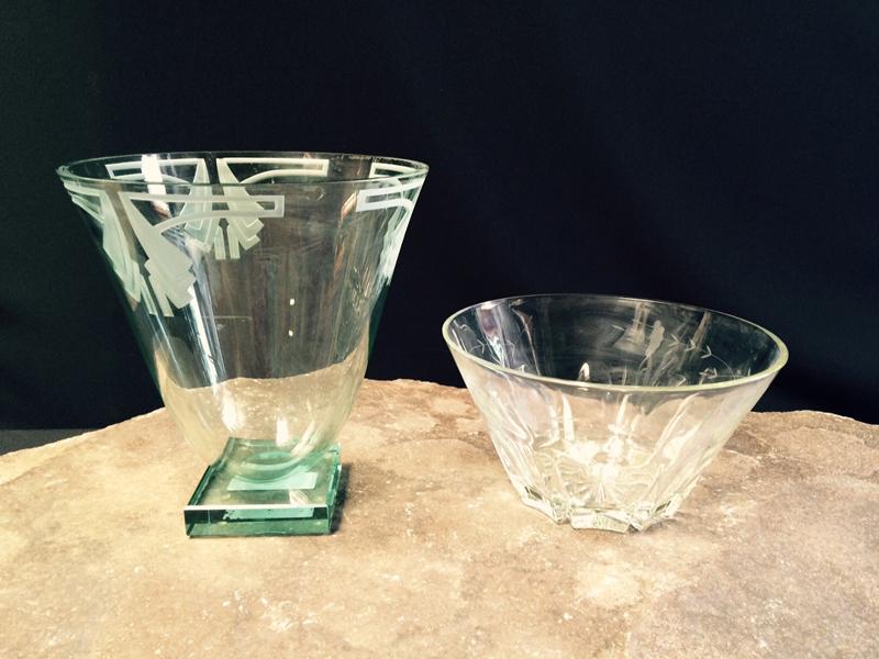 Etched Crystal Vases