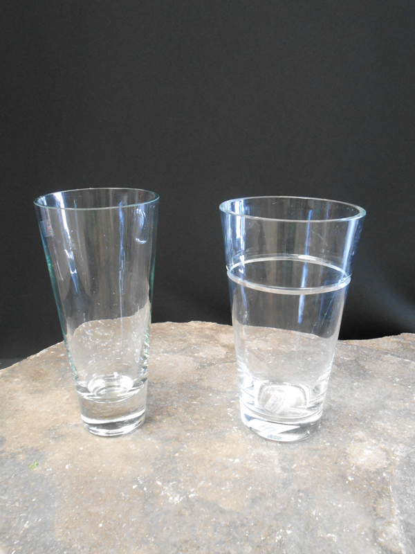 Flared Crystal Vases