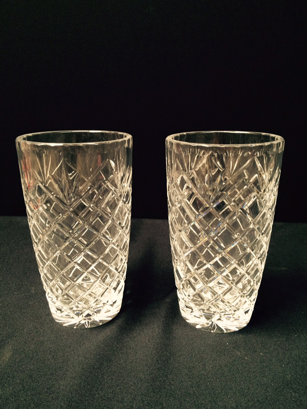 Traditional Cut Crystal Vases