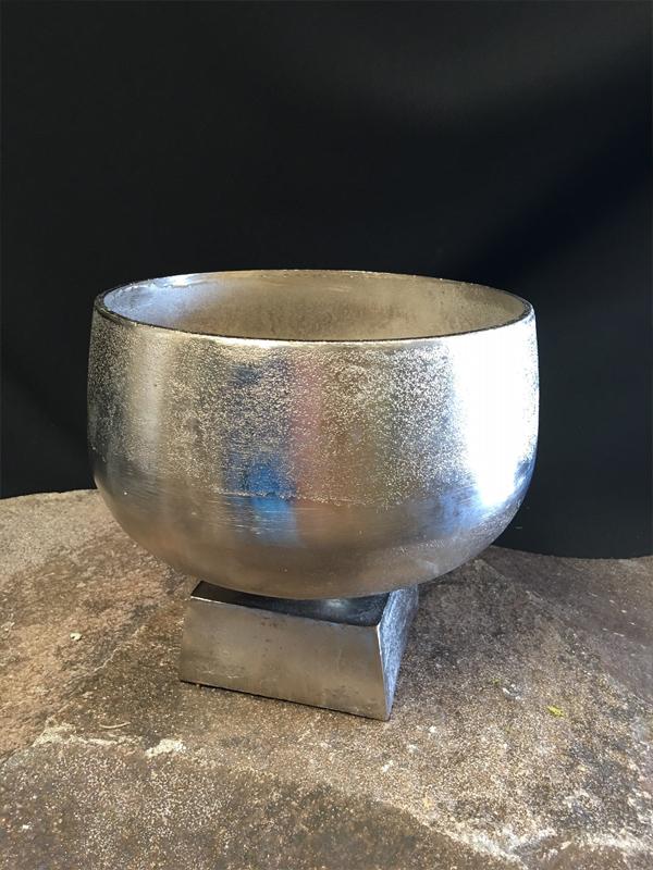 Silver Metal Footed Urn