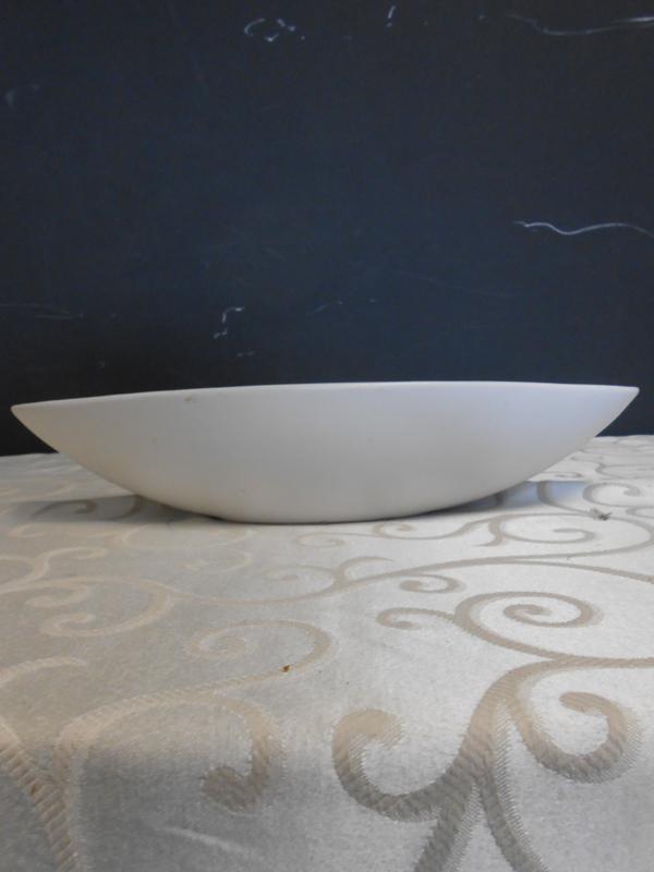 White ceramic oblong bowl