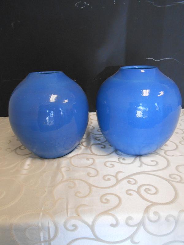 Blue glazed terracotta