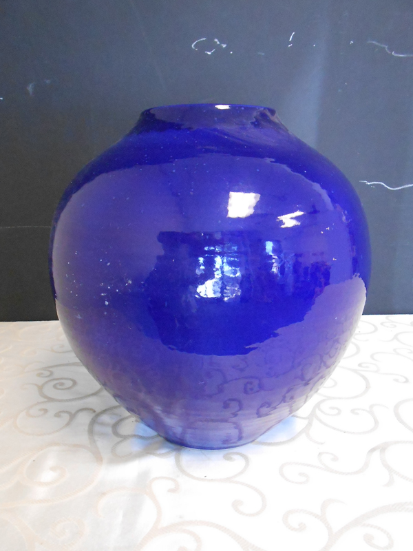 Indigo ceramic bowl