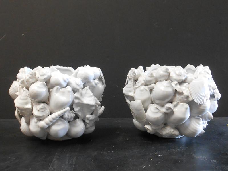 Seashell white ceramic