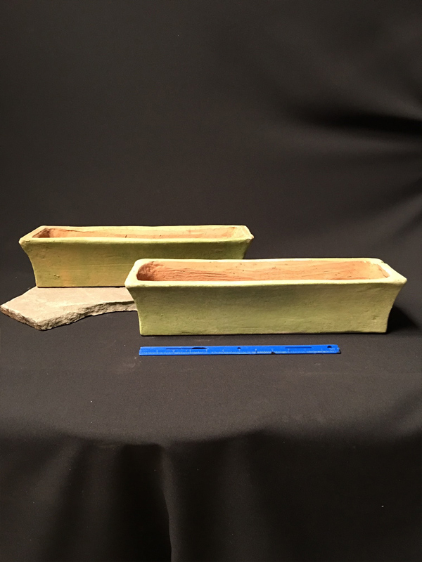 Aged terracotta rectangle planter