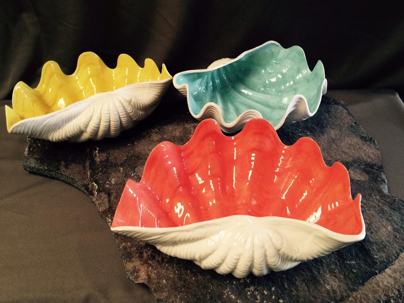 Ceramic sea shells