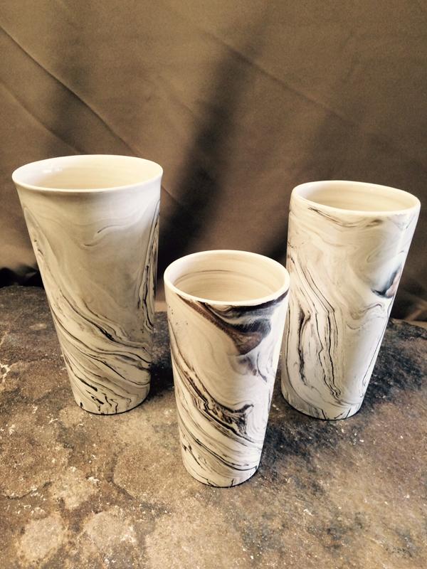 Black and white swirl ceramic