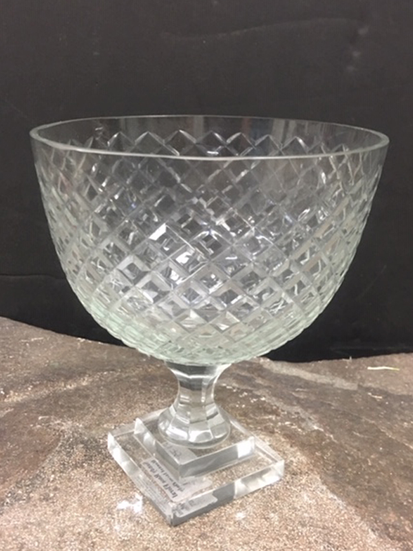 Large footed crystal bowl