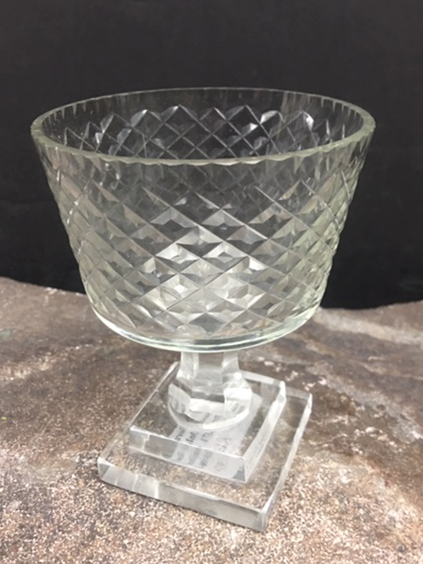 Small footed crystal bowl