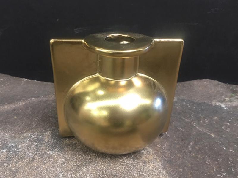Gold metal bud vase
