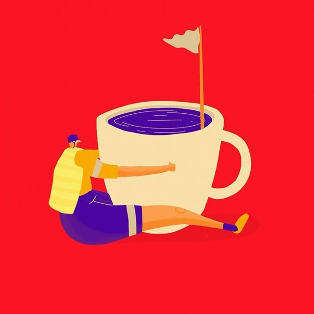 Cycling series 3 (coffee is very important) 🚲  #artjournal #creativeprocess #sketchbook #digitalart #digitalpainting #adobeillustrator #photoshop #illustrator #vectorart #digitalart #artistsoninstagram#instaart #instaartist #illustratorsoninstagram #wip #illustrationoftheday #creatives #doodles  #procreate #adobe