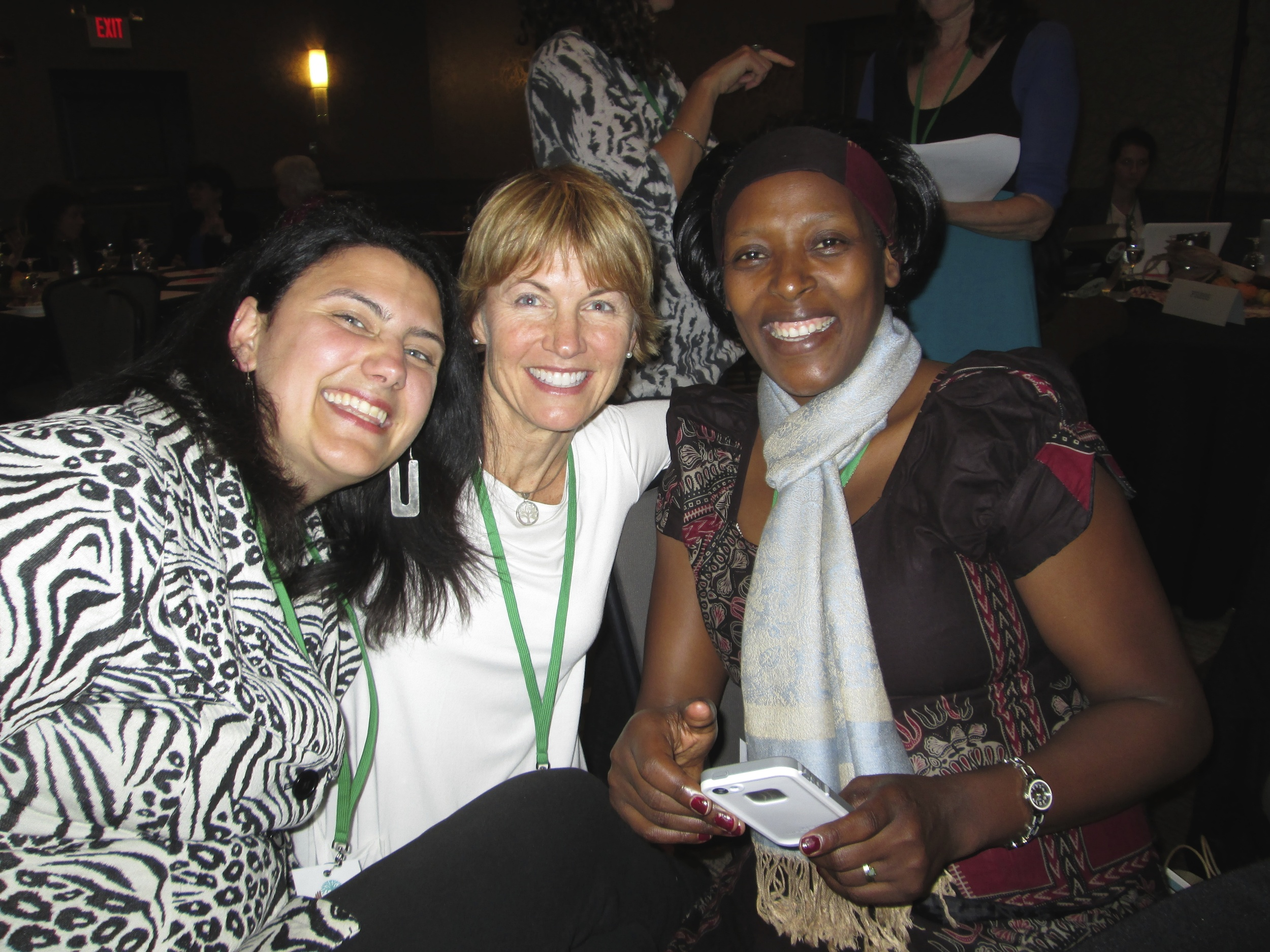 with Jensine Larsen and Neema Namadamu