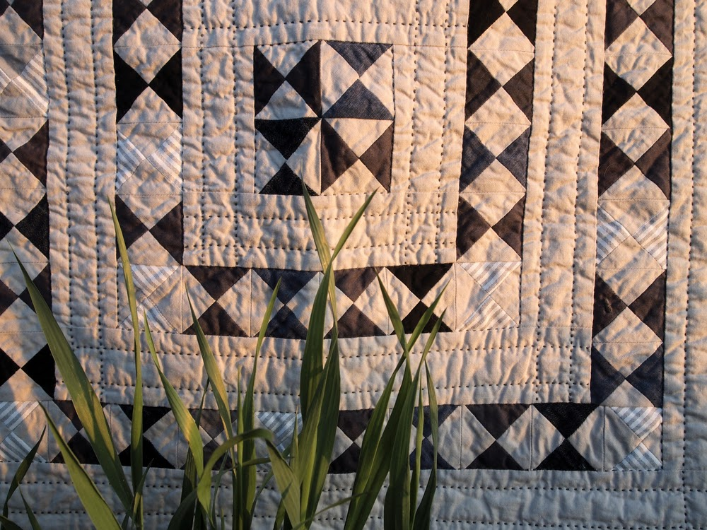 Intended to be a technical and creative exercise in reuse and making do, Quilt no. 012 is Quilt no. 011's little sister.