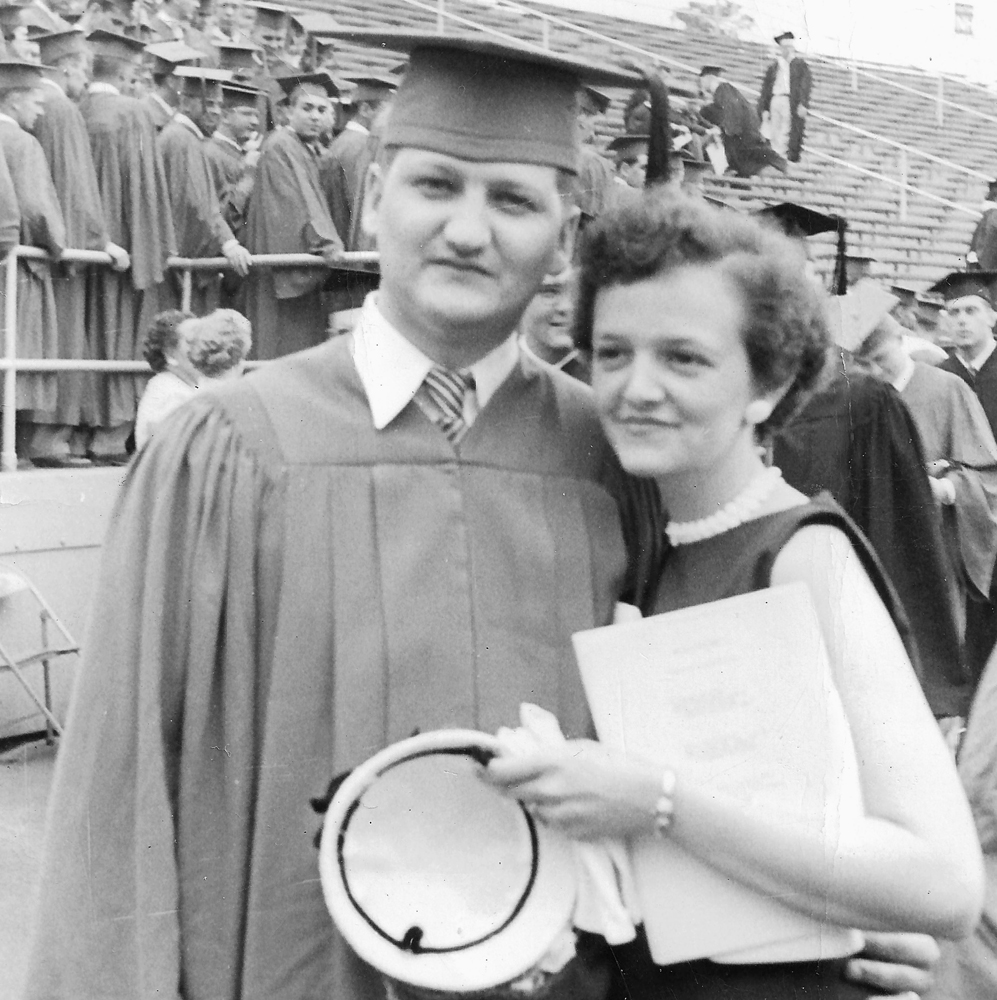Pop and Gaby at Graduation
