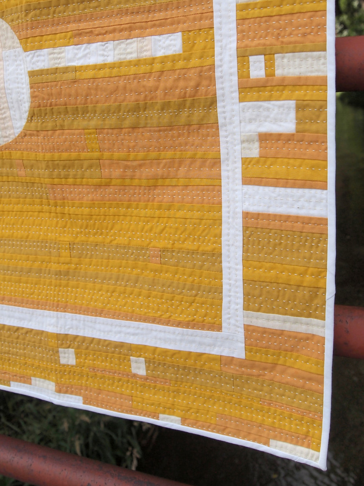 Quilt no. 015: Improve Study in Yellow and White Detail
