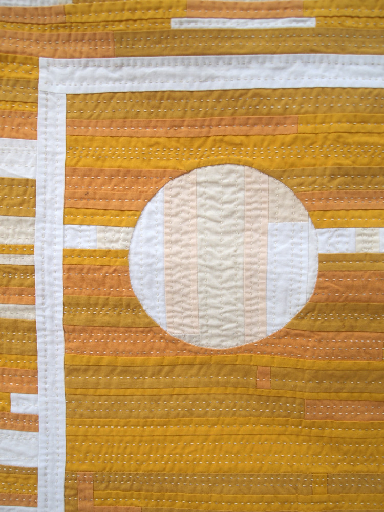 Quilt no. 015: Improve Study in Yellow and White Front
