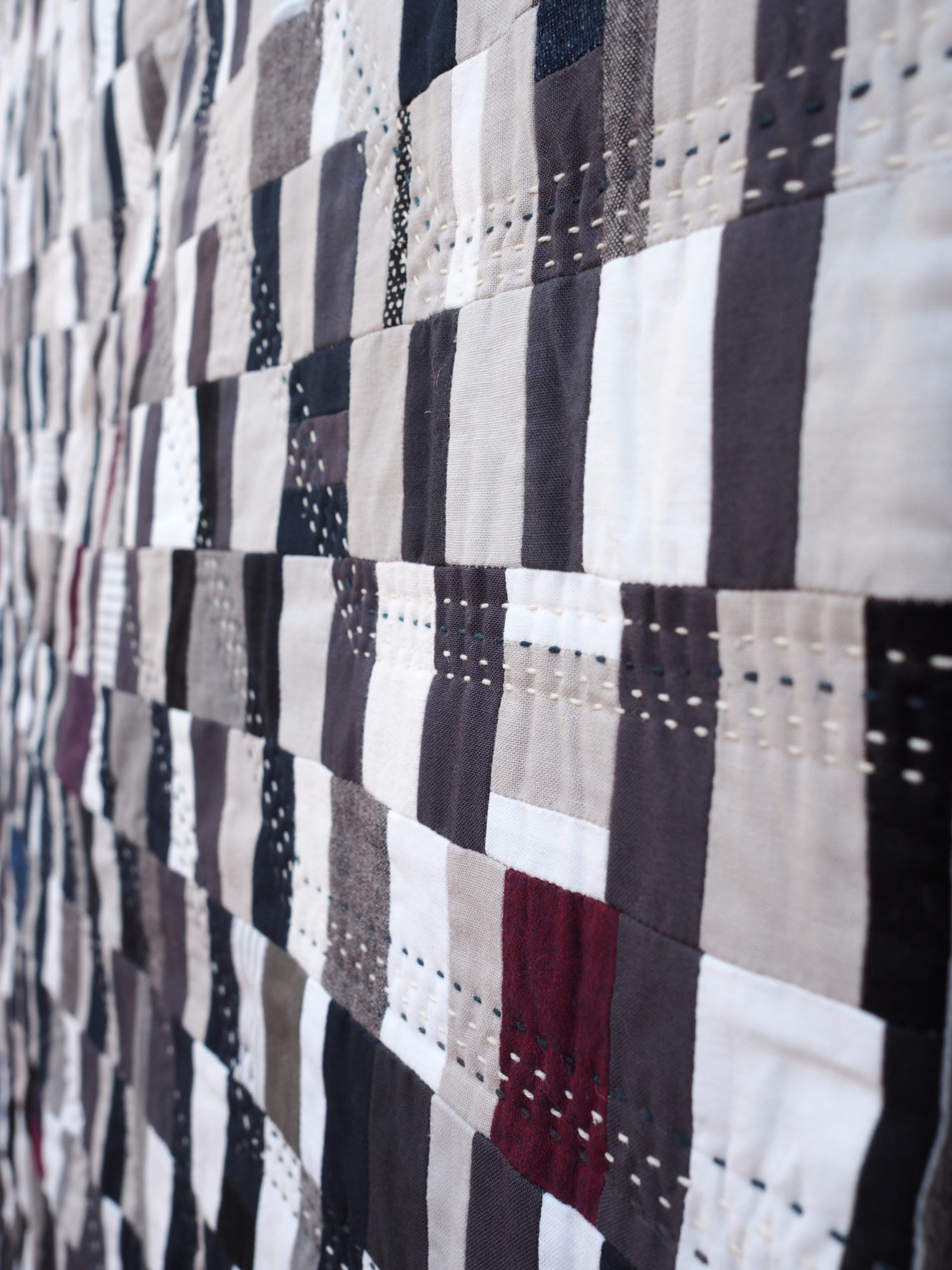 Quilt no. 020 by Shelby Marie Skumanich: Stitching Details