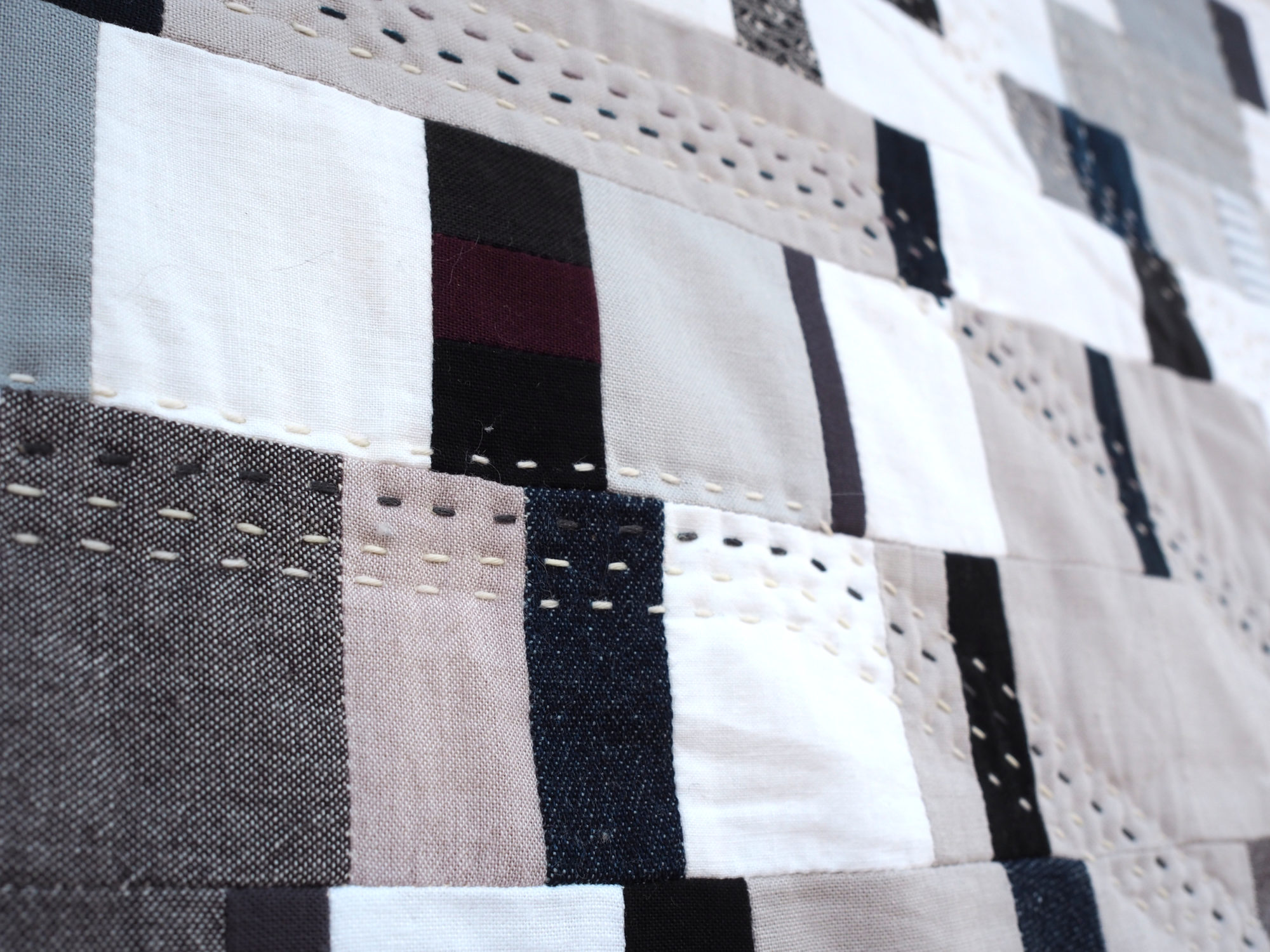 Quilt no. 020 by Shelby Marie Skumanich: Close Up