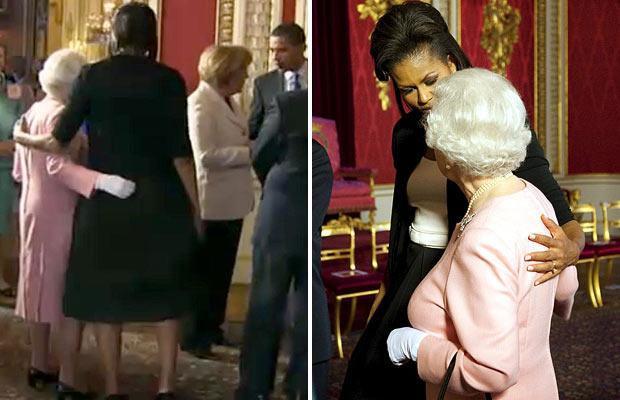 Michelle Obama cùng tổng thống Obama viếng thăm nữ hoàng Anh Quốc -Source Internet