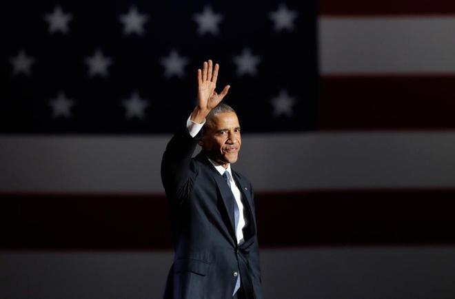 Tổng thống Obama đọc diễn văn từ biệt, ngày 10 tháng 1 năm 2017. Nguồn internet.