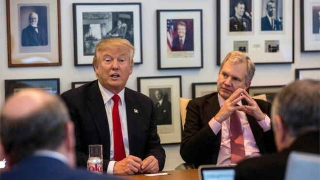 TT Trump phỏng vấn bởi báo New York Times. Nguồn internet.
