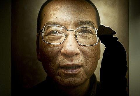 Chân dung ông Lưu Hiểu Ba, người Trung Hoa đầu tiên đoạt giải thưởng Nobel nhân quyền cao quý. Nguồn internet.