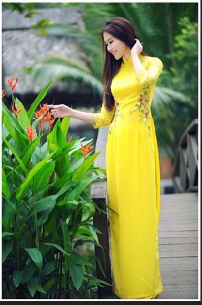 Nguồn: áo dài vải lụa Thái Tuấn