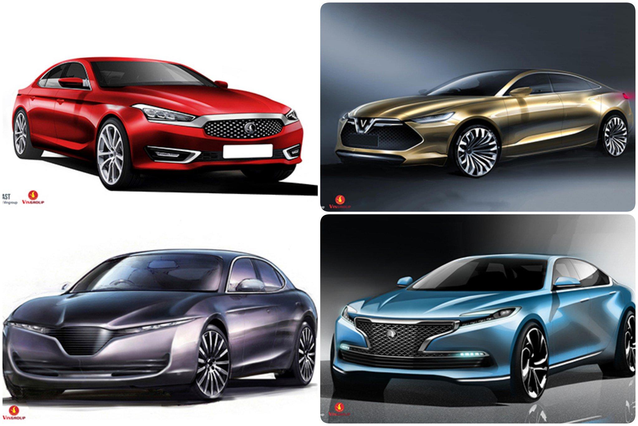 Các mẫu xe hơi thương hiệu Vinfast của tỷ phú Việt nam, Phạm Nhật Vượng. Nguồn internet.