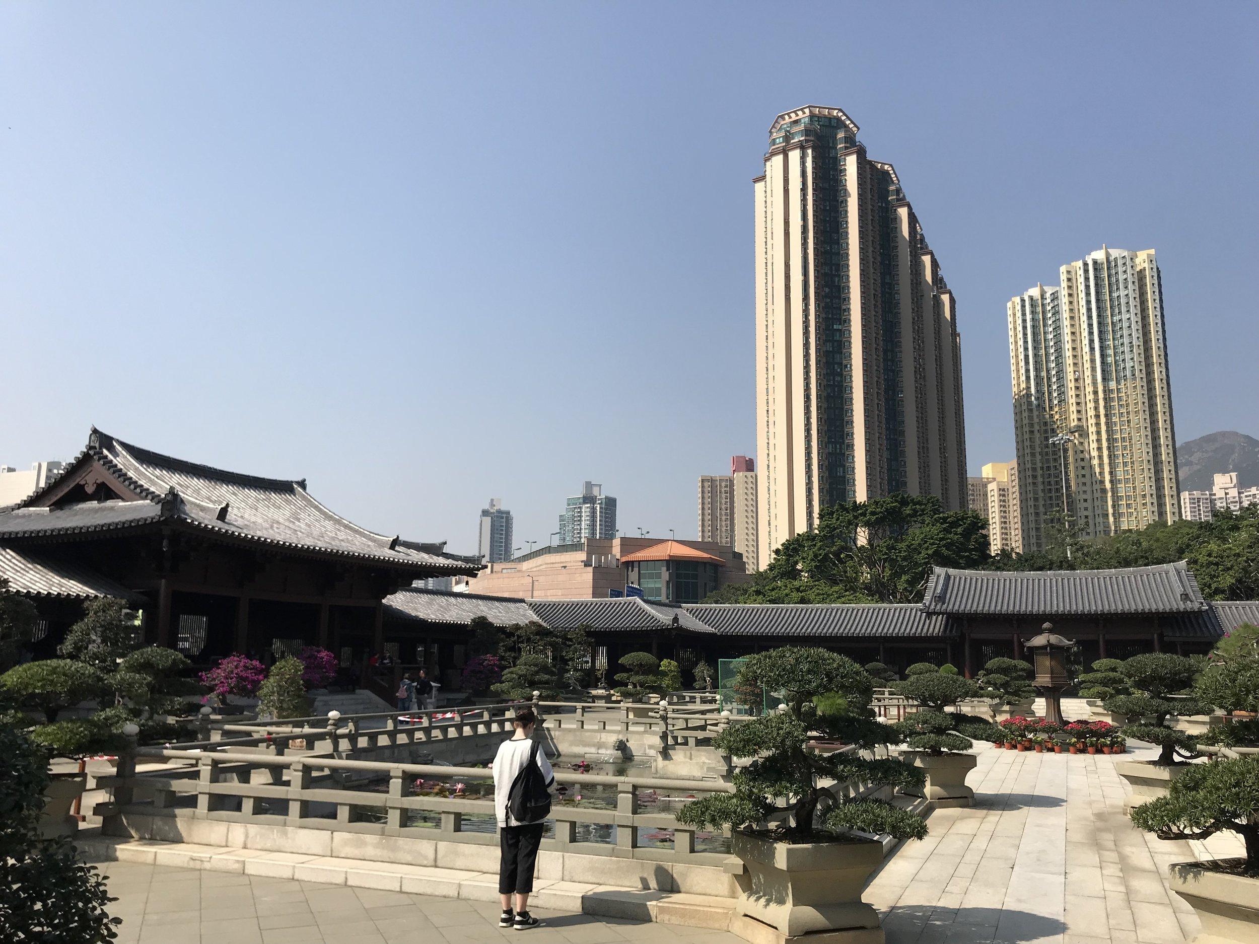 Một ngôi chùa đẹp ở Kowloon. Chùa Chi Lin.