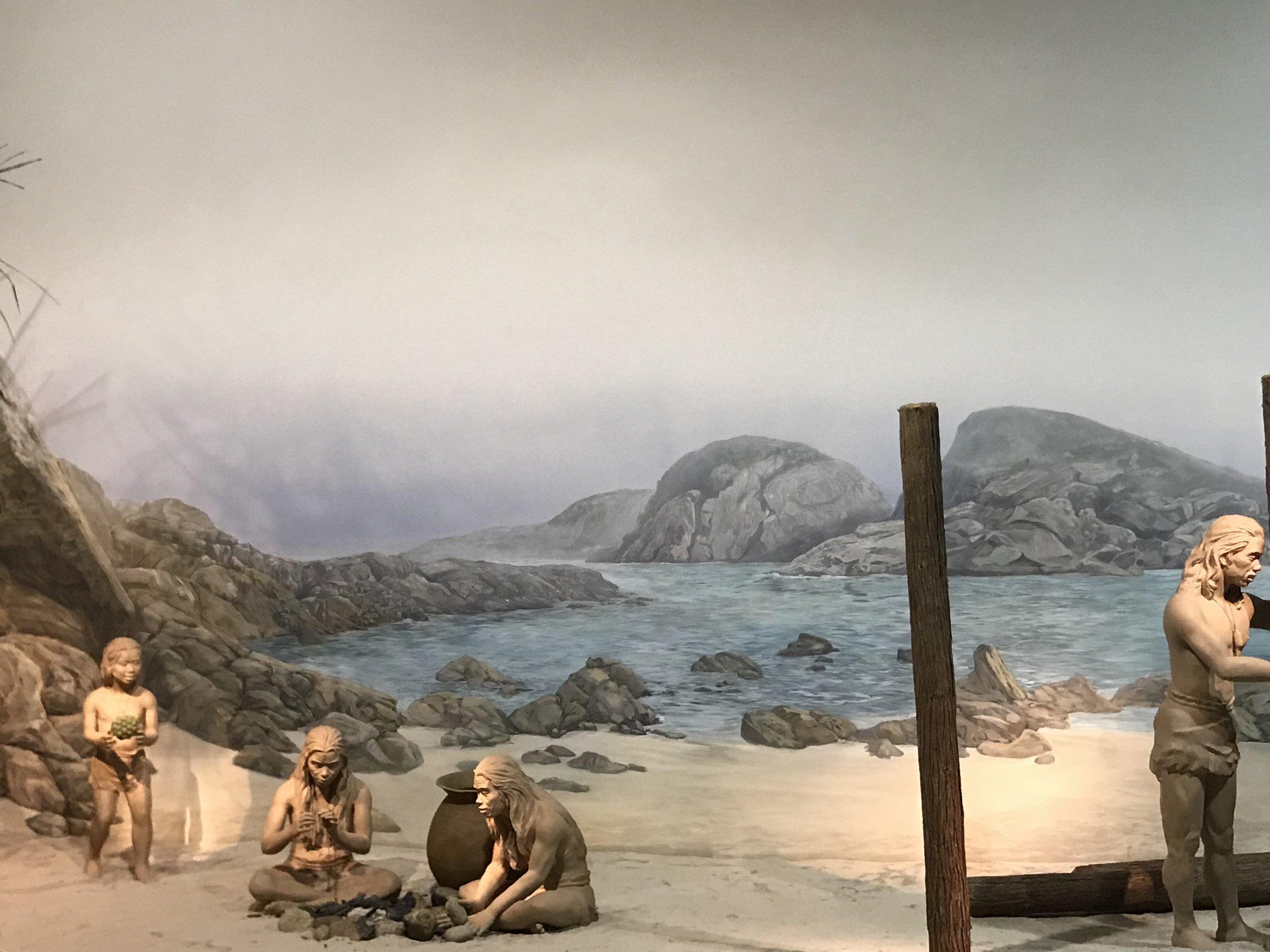 Cảnh người tiền sử của Hong Kong tại Bảo tàng viện Khoa Học và Lịch Sử tại Kowloon.