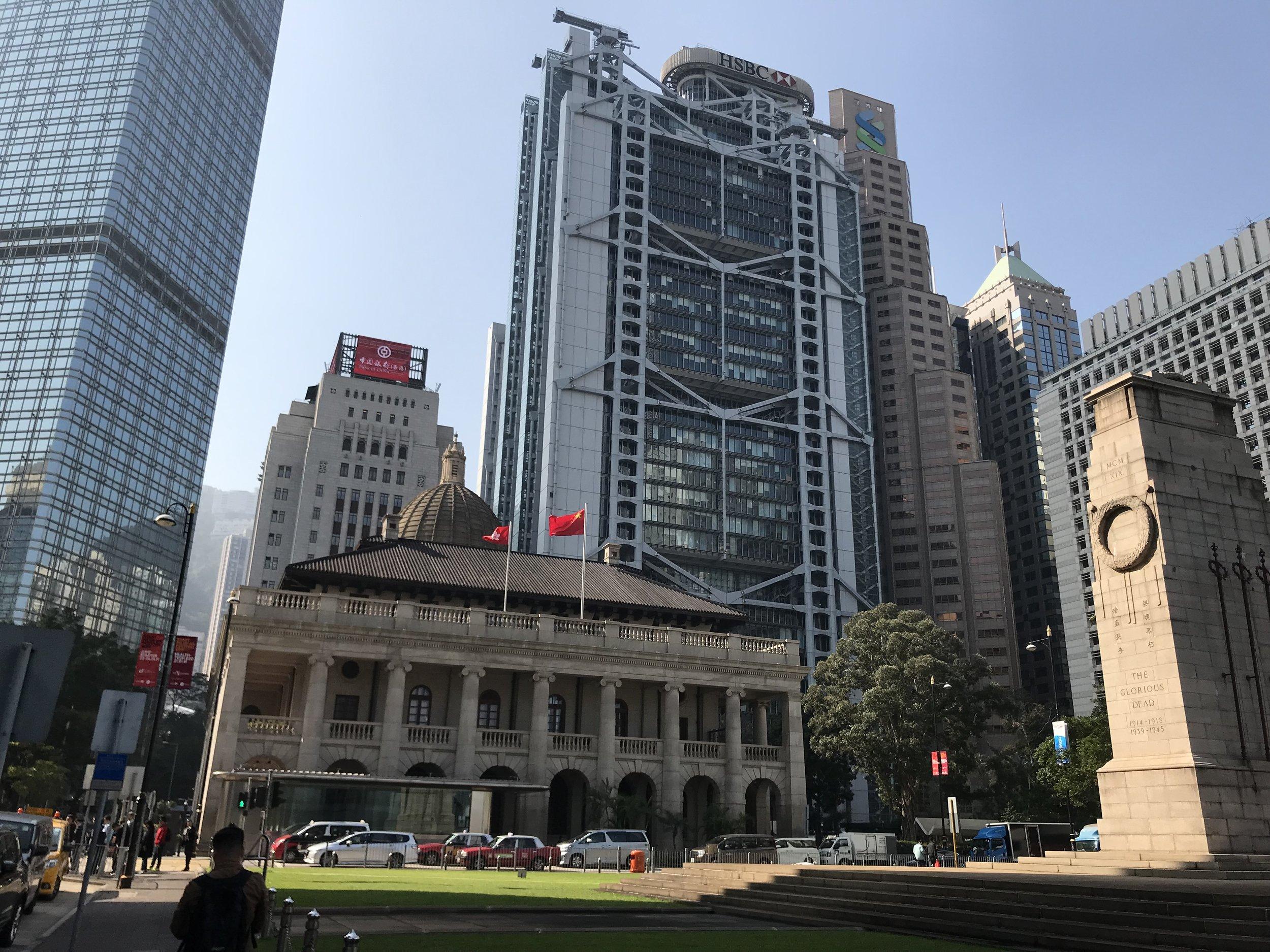 Trung tâm thị chính của đảo Hong Kong.