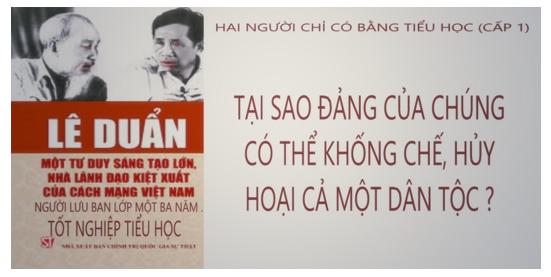 Hai (2) tên tội đồ của dân tộc Việt: Hồ Chí Minh (1890-1969), Lê Duẩn (1907-1986). Nguồn Internet