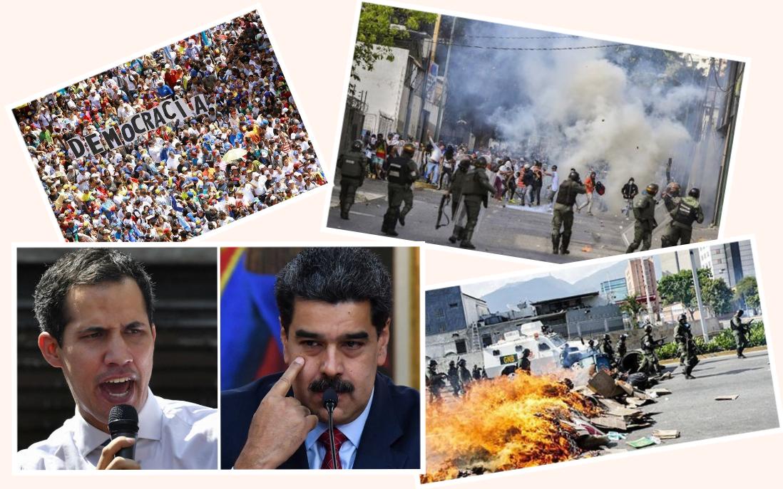 VENEZUELA, LÒ LỬA CỦA THẾ GIỚI, bắt đầu trong tháng Giêng 2019. Nguồn internet.