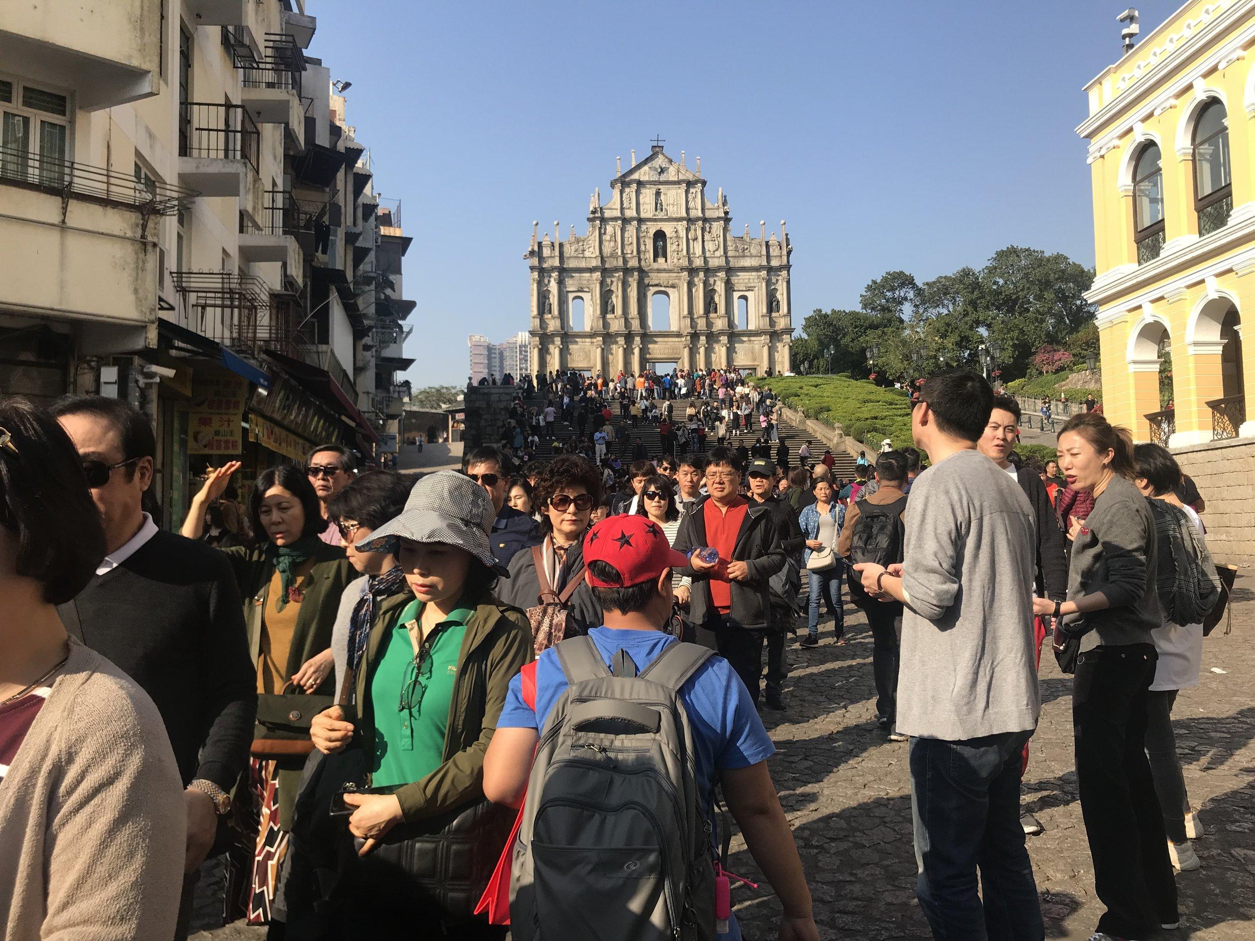 "Di tích lịch sử ""The Ruins of St. Paul"" của Macao."