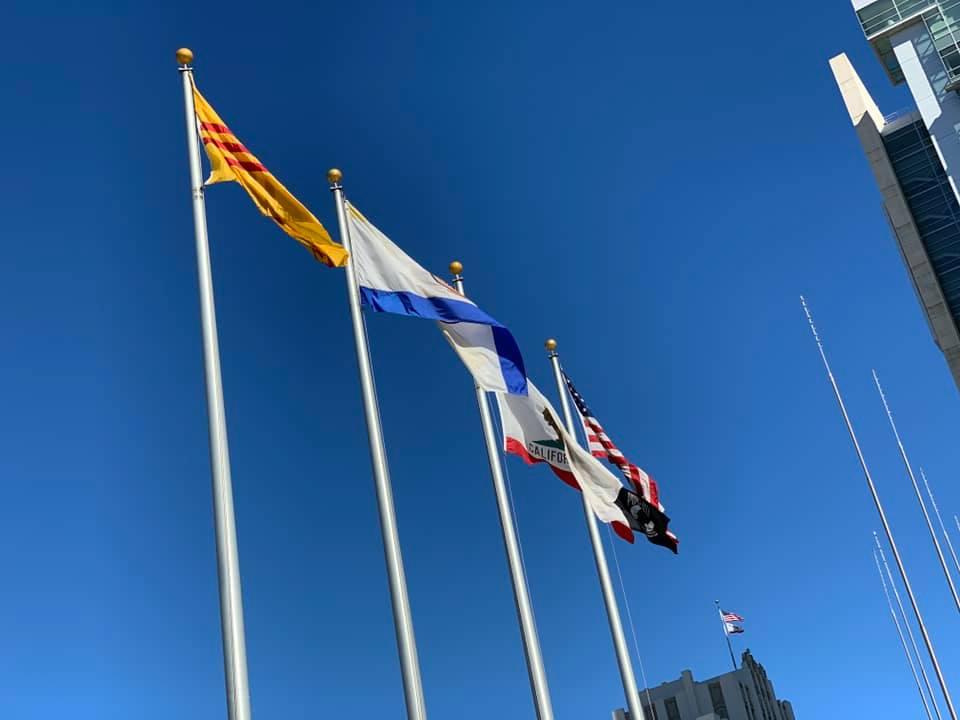 Lễ Thương Kỳ cờ VNCH tại tòa thị chính San Jose, CA.