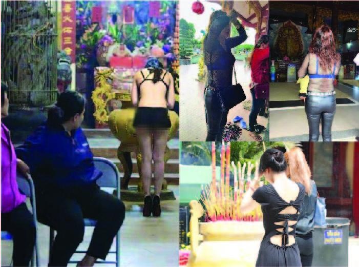 Trang phục đi chùa của một số phụ nữ Việt Nam. Nguồn internet.