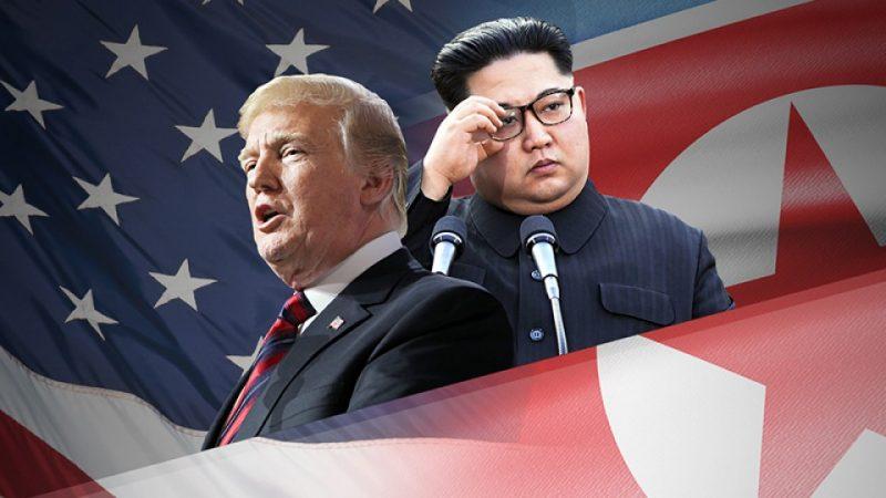 Tổng thống Hoa Kỳ Donald Trump và Chủ Tịch Bắc Hàn Kim Chính Ân. Nguồn internet.